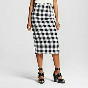 NWT gingham plaid pencil skirt
